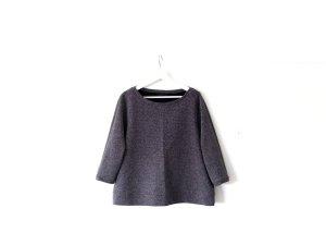 COS Sweater Gr. M 38 40 A-Linie 3/4-Ärmel schwarz weiß gepunktet U-Bootausschnitt