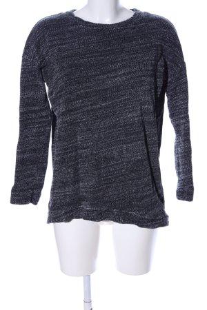 COS Sweatshirt hellgrau-schwarz meliert Casual-Look