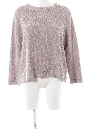 COS Sweatshirt rose-blanc moucheté style décontracté