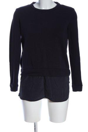COS Sweatshirt blau meliert Casual-Look