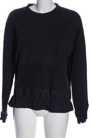 COS Sweatshirt schwarz-blau Casual-Look