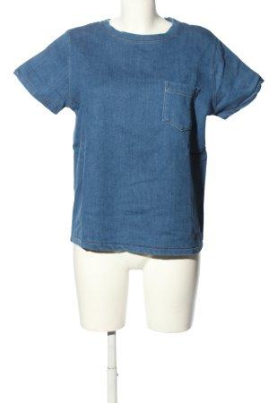 COS T-shirt niebieski Melanżowy W stylu casual