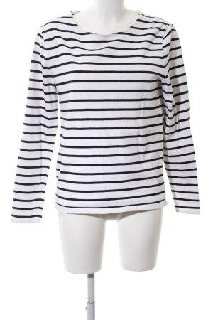 COS Sweatshirt weiß-schwarz Streifenmuster Casual-Look