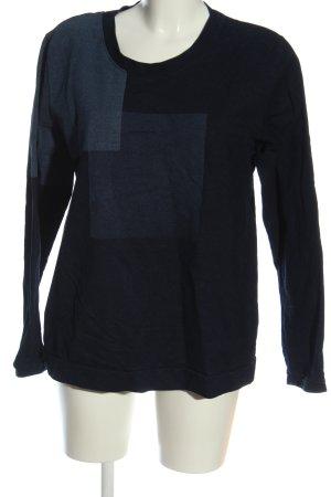 COS Sweatshirt bleu-noir style décontracté