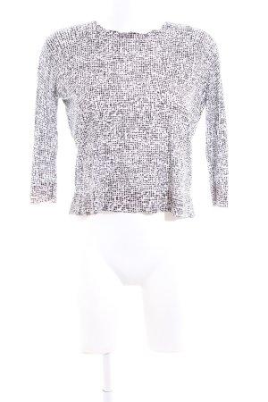 COS Sweatshirt weiß-schwarz abstraktes Muster Casual-Look
