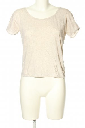 COS T-Shirt creme meliert Casual-Look