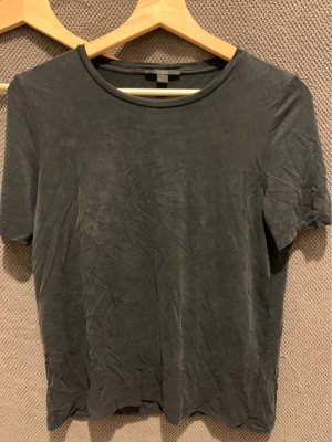 COS T-Shirt black-anthracite copper rayon