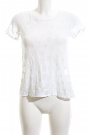 COS T-Shirt weiß grafisches Muster extravaganter Stil
