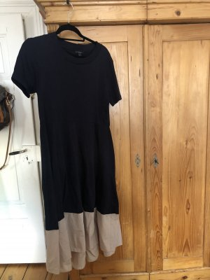 COS A-lijn jurk beige-donkerblauw