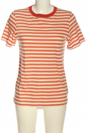 COS T-Shirt rot-creme Streifenmuster Casual-Look