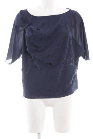COS T-Shirt blau Punktemuster Casual-Look