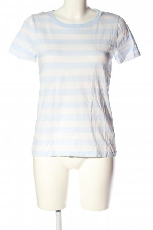COS T-Shirt creme-blau Streifenmuster Casual-Look