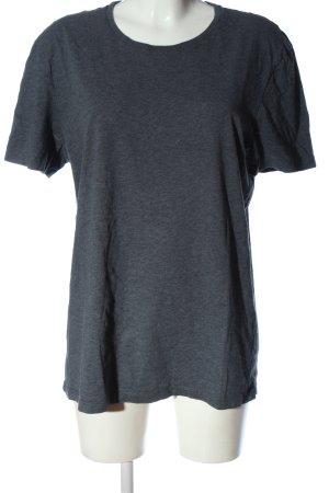 COS T-Shirt blau meliert Casual-Look