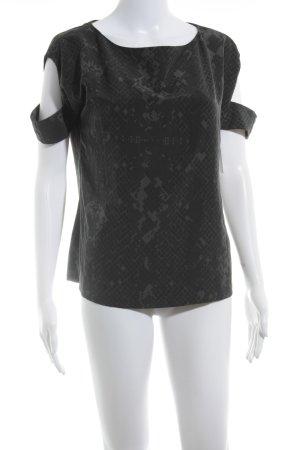 COS T-Shirt schwarz-grau Animalmuster Street-Fashion-Look