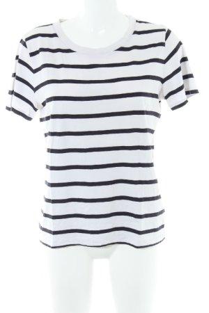 COS T-Shirt weiß-dunkelblau Ringelmuster Casual-Look