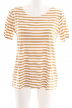 COS T-Shirt wollweiß-apricot Streifenmuster Casual-Look