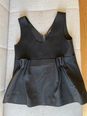 COS Peplum Top black mixture fibre