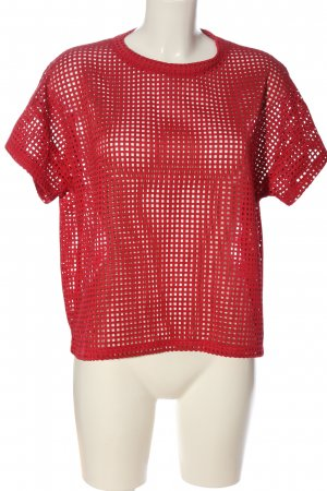 COS Transparenz-Bluse rot Casual-Look