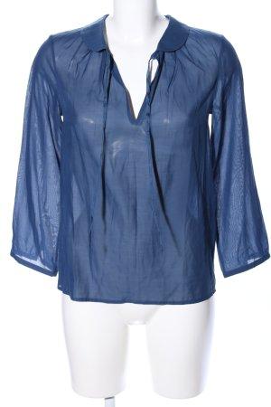 COS Transparenz-Bluse blau Business-Look