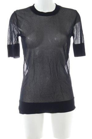 COS Transparenz-Bluse schwarz Casual-Look