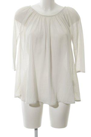 COS Transparenz-Bluse weiß Elegant