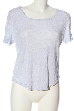 COS Koszulka z dekoltem w łódkę jasnoszary Melanżowy W stylu casual