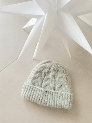 COS Knitted Hat sage green