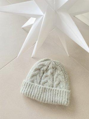 COS Sombrero de punto verde grisáceo