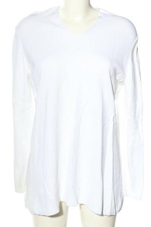 COS V-Ausschnitt-Pullover weiß Casual-Look