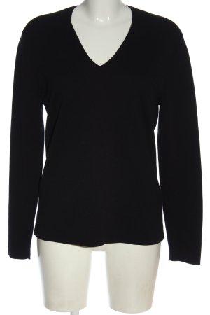 COS Sweter z dekoltem w kształcie litery V czarny W stylu casual
