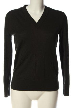 COS V-Ausschnitt-Pullover grün Casual-Look