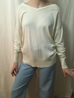 COS v-neck cremefarben