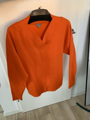 COS V-Neck Sweater dark orange