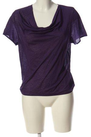 COS Camisa con cuello caído lila look casual