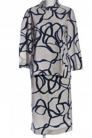 COS Woven Twin Set natural white-blue abstract pattern casual look