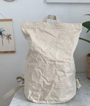 COS Sac à dos pour ordinateur portable blanc coton