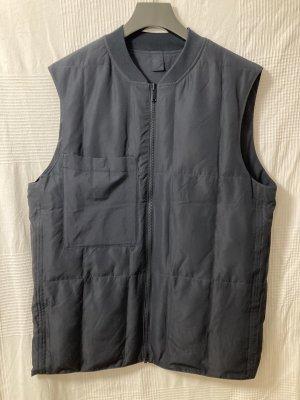COS Omkeerbaar vest donkerblauw Polyamide