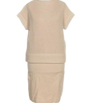 COS Vestido de lana crema-beige