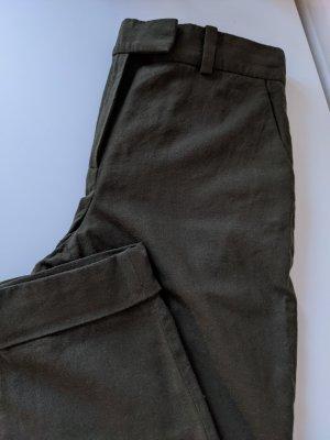 COS Pantalon en laine kaki