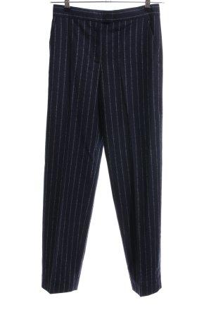 COS Pantalone di lana nero-bianco motivo a righe stile professionale