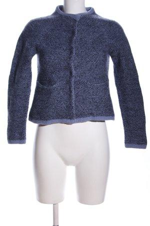 COS Wool Jacket blue-black flecked casual look