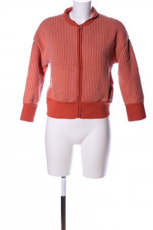 COS Wool Jacket red striped pattern casual look
