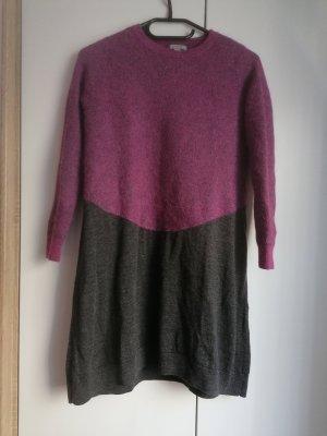 COS Wełniana sukienka ciemnoszary-fioletowy Wełna