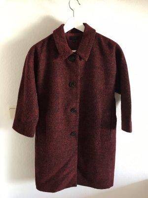 COS Abrigo de lana burdeos