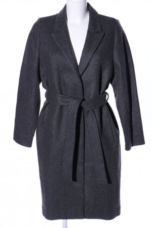 COS Wool Coat light grey weave pattern business style