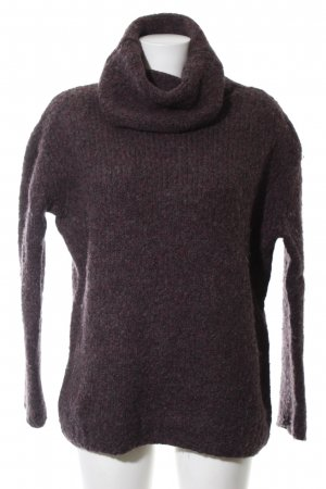 COS Pull en laine violet-kaki moucheté style décontracté