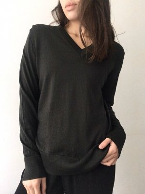 COS Wool Sweater dark green wool