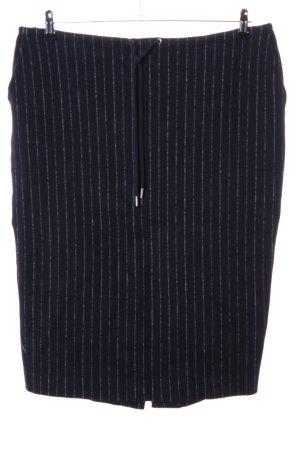 COS Wollen rok zwart-wit gestreept patroon zakelijke stijl