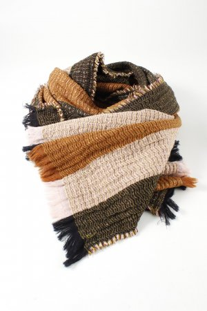 COS Wollen sjaal gestreept patroon zakelijke stijl
