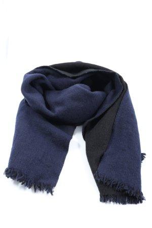 COS Sciarpa di lana blu stile casual